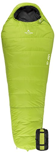 TETON Sports LEEF Lightweight Adult Mummy Sleeping Bag; Great for Hiking, Backpacking and Camping;...