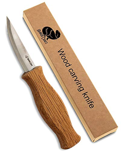 BeaverCraft Sloyd Knife C4 3.14' Wood Carving Sloyd Knife for Whittling and Roughing for Beginners...