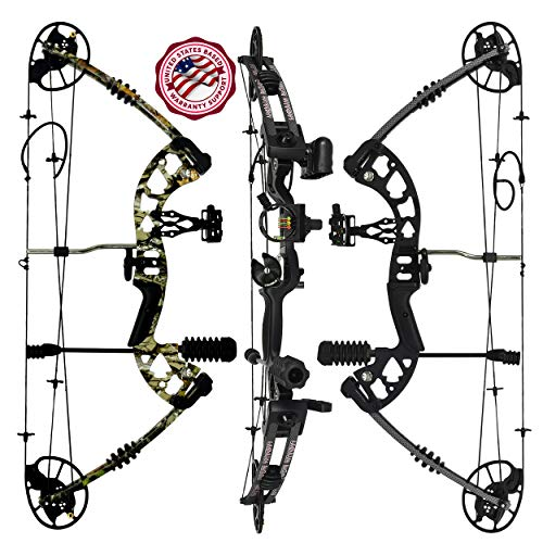 """Predator Archery Raptor Compound Hunting Bow Kit: Limbs Made in USA   Fully Adjustable 24.5-31""""..."""