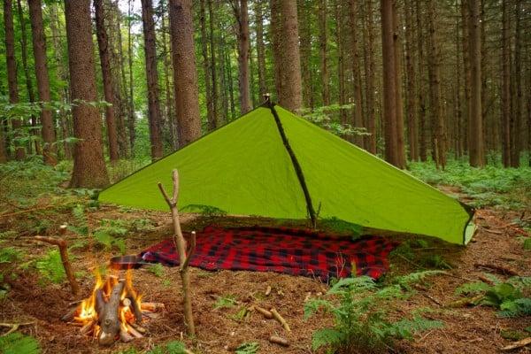 Tarp set up for Camping