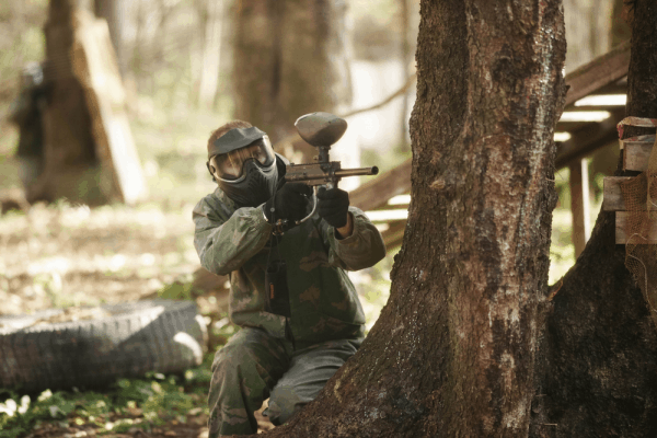 Woodsball with a Mechanical Paintball Marker