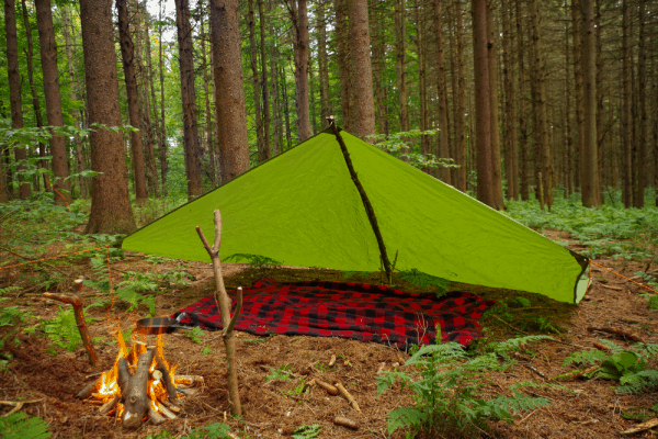 How to Build the A Frame Tarp Shelter