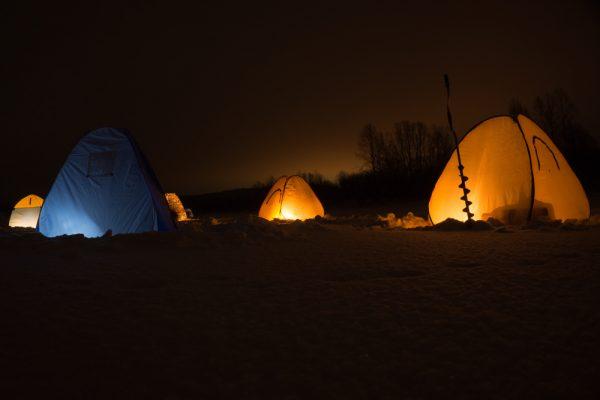 Night Ice Fishing Spots