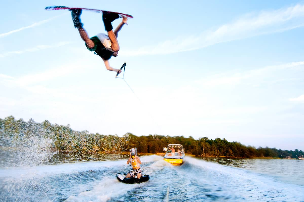 extreme water sports Wakeboarding