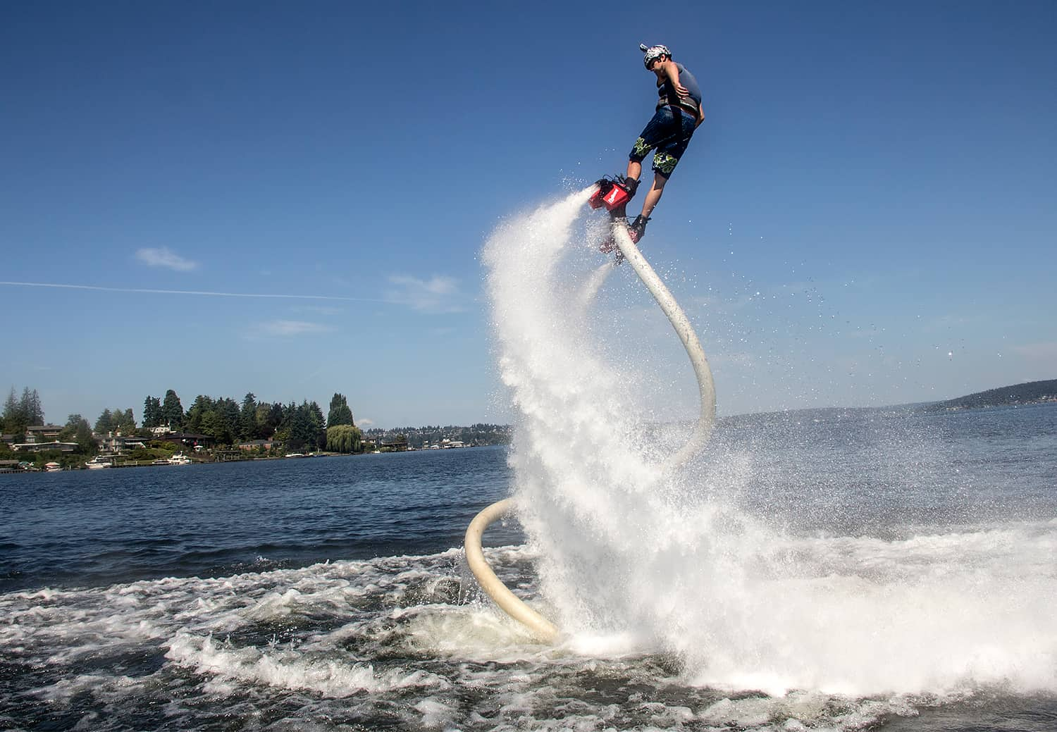 extreme water sports - flyboarding